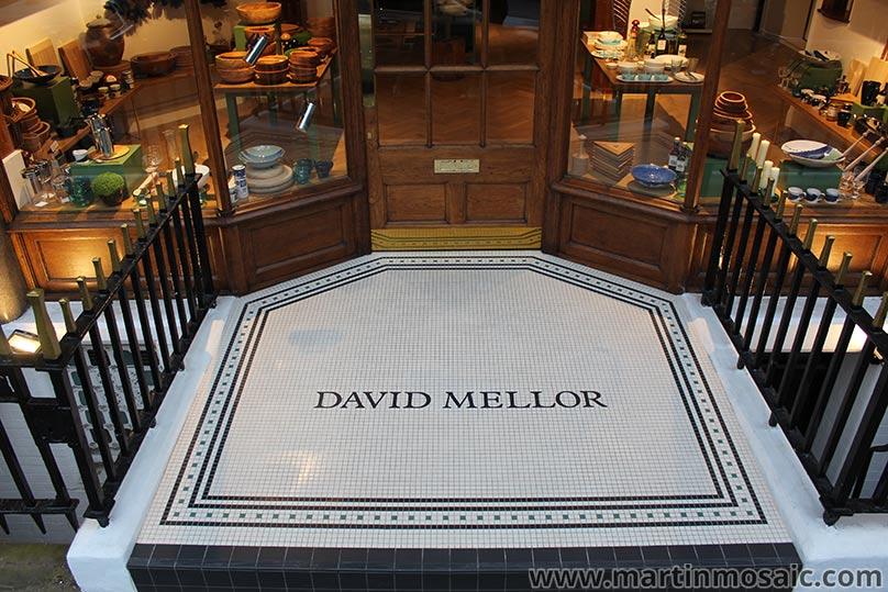 Floor tiles wiwth hand made logo