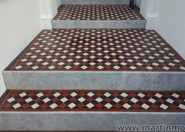Unglazed victorian floor tiles, 5x5cm thickness 5mm