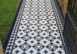 Pathway victorian floor tiles, 5cmx5cm thickness 5mm. Super white & black. Eltham.