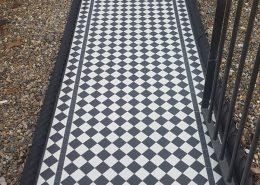 Front garden tiles 5cmx5cm thickness 5mm. Super white, black