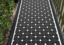 Octagon black tiles 10x10cm, dots 3.5x3.5cm, thickness 9mm. Tooting.
