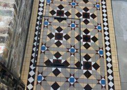 Pathway victorian floor tiles 5cmx5cm thick 5mm. Cognac, linen, red, black, blue, white, chocolate.