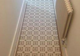 Mosaic floor tiles 20x20mm, thick 3.8mm. Colours: pale grey, super white.