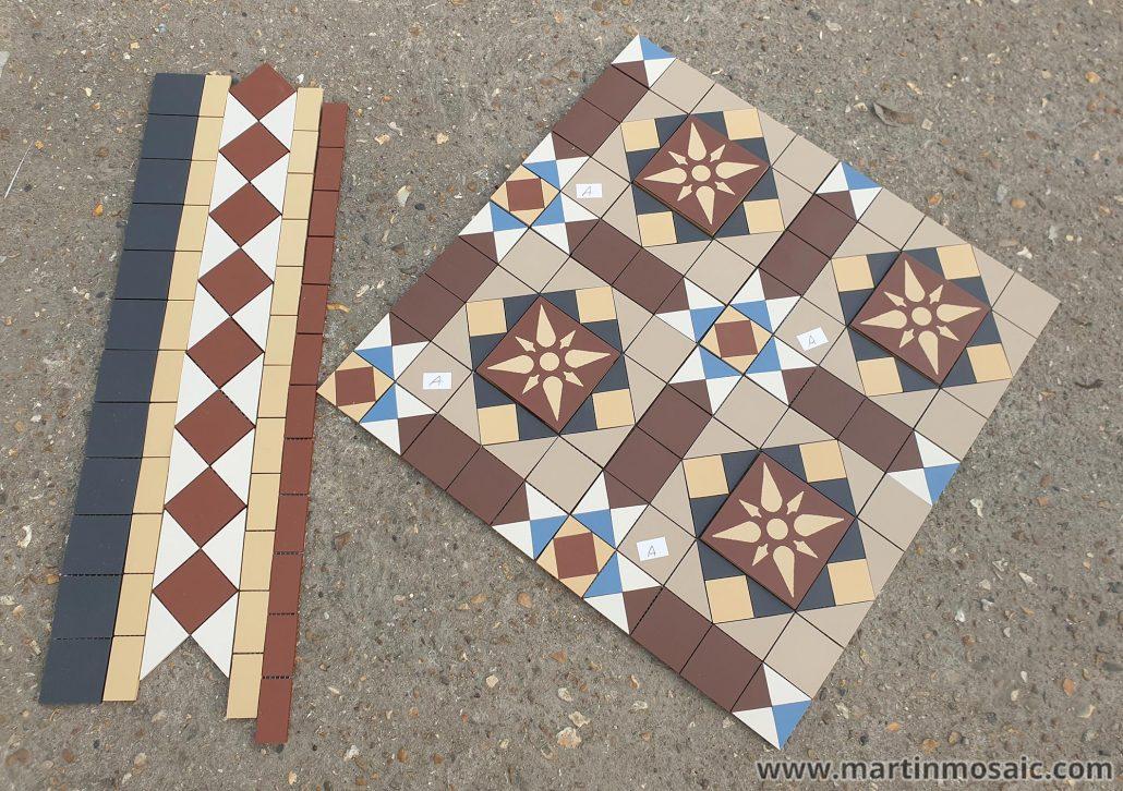 Bespoke design with encaustic tiles