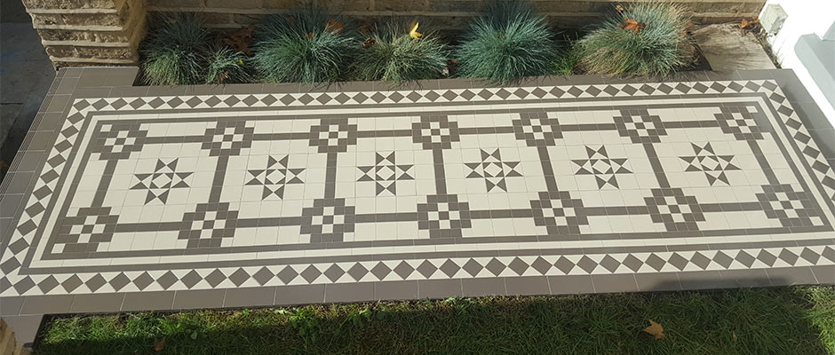 Victorian path Tiles Design Supply Install