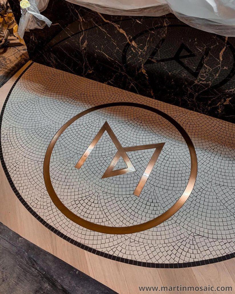 Mosaic tiles floor - fan mosaic tiles