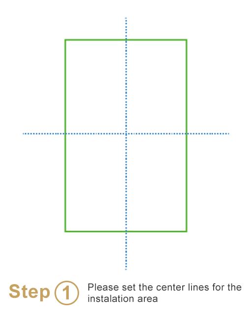 Bespoke sheeted tiles instalation - Step 1