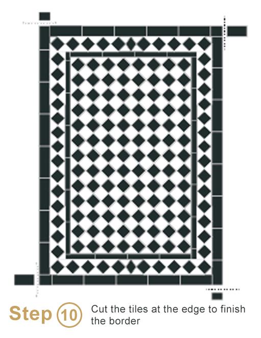 Bespoke sheeted tiles instalation - Step 10