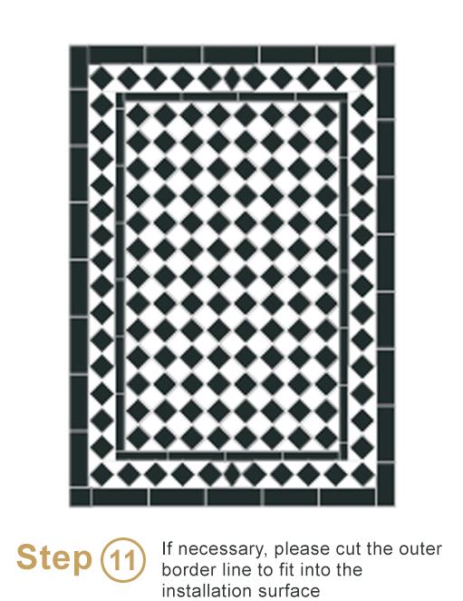 Bespoke sheeted tiles instalation - Step 11