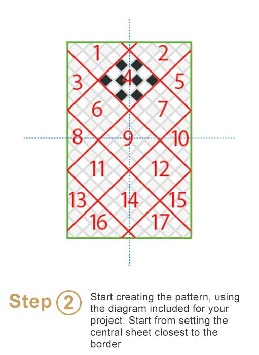 Bespoke sheeted tiles instalation - Step 2