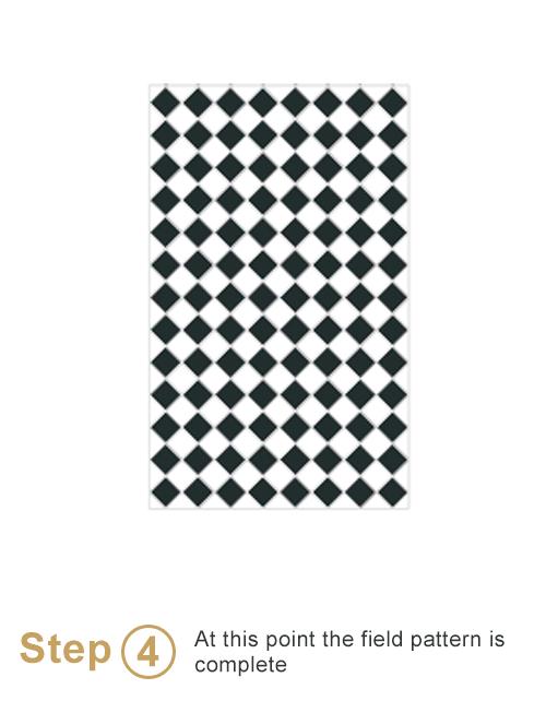 Bespoke sheeted tiles instalation - Step 4