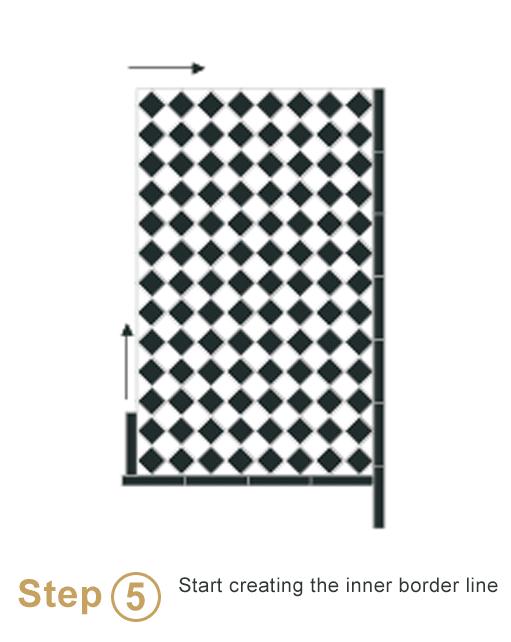 Bespoke sheeted tiles instalation - Step 5