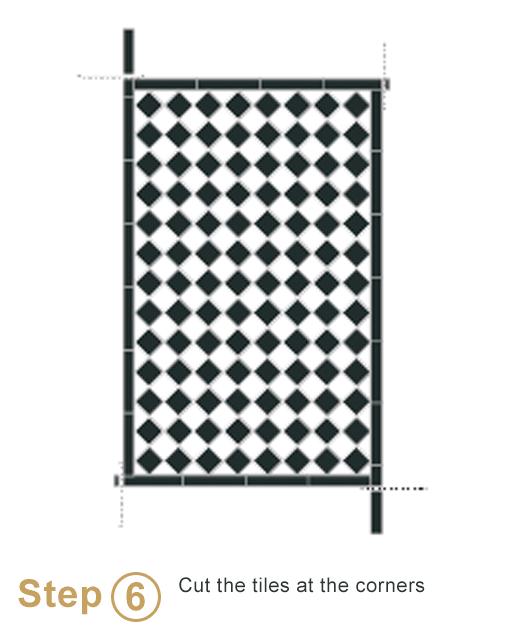 Bespoke sheeted tiles instalation - Step 6