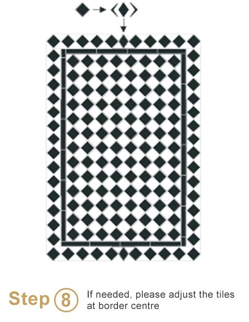 Bespoke sheeted tiles instalation - Step 8